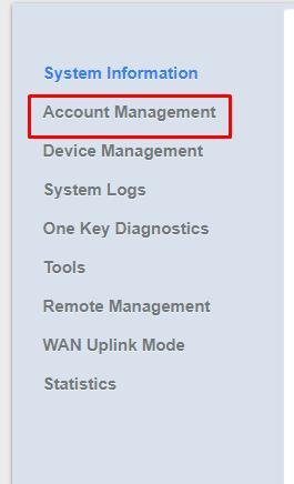 اضغط على كلمة Account Management